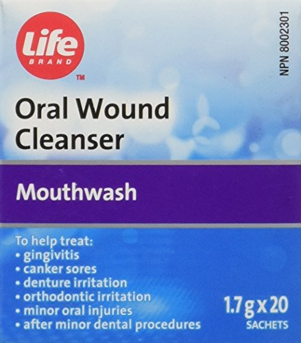 Amosan Replacement - LifeBrand Oral Wound Cleanser Powder - 20 Envelopes Each