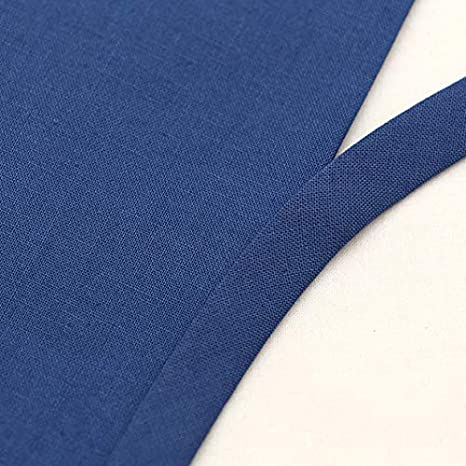 Cinta al bies de algod/ón de az/úcar de 10 mm de grosor color de doble pliegue Acero azul