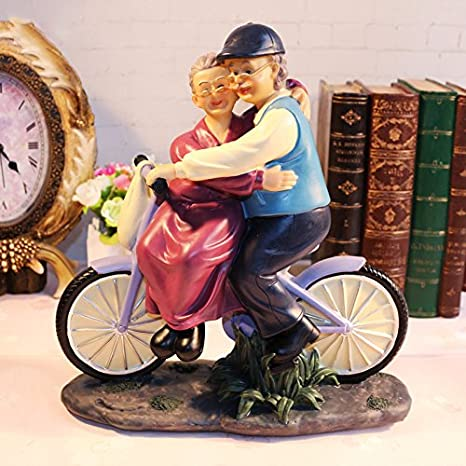 JYZB Marriage Memorial Day Gift Ideas Elderly Parents Birthday Resin Crafts Ornaments 241025cm