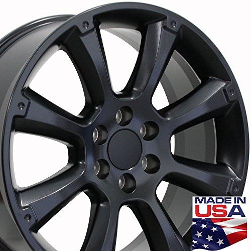 22x9 Wheel Fits GM Trucks & SUVs - Cadillac Escalade Style Black Rim, Hollander (2014 Escalade Rims)