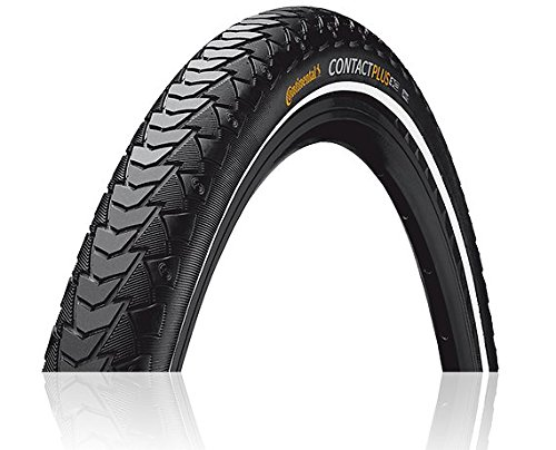 Continental Contact Plus ETRTO (42-622) 700 x 42 Reflex Bike Tires, Black by Continental