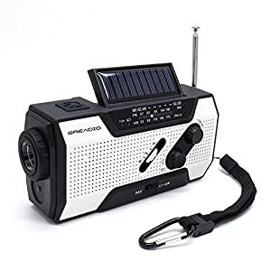 51WMa9X0LwL. SS300  - Emergency Weather Solar Crank AM/FM NOAA Radio with Portable 2000mAh Power Bank, Bright Flashlight and Reading Lamp For Household Emergency and Outdoor Survival