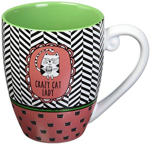Crazy Cat Dog (It's Cats & Dogs Crazy Cat Lady Ceramic Extra Large Coffee Mug Tea Cup, 20 oz, Pink)