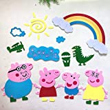 Kindergarten Environmental Wall Stickers Primary School Classroom Wall Decoration Non-Woven Pigs a Suit