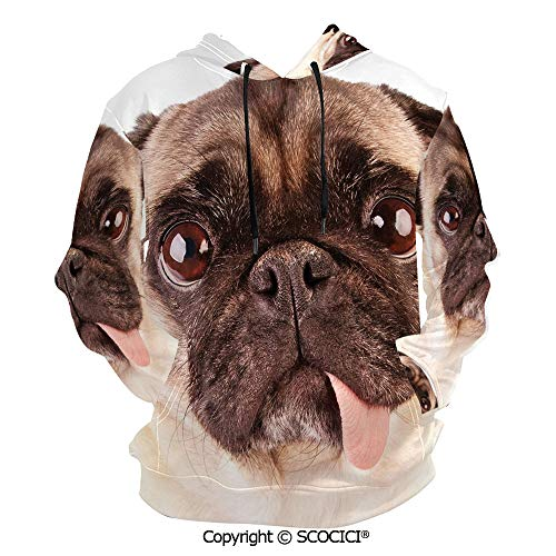 UHOO Portrait of an Hoodies 3D Print Sweatshirt for Men