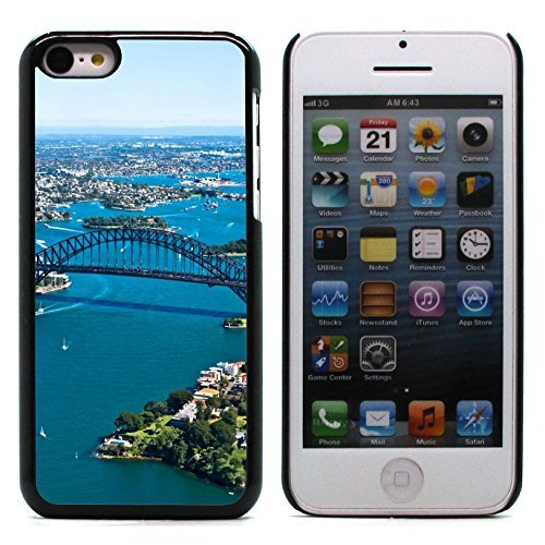 Graphic4You Sidney Australia Aerial View Postcard Design Hard Case Cover for Apple iPhone 5C