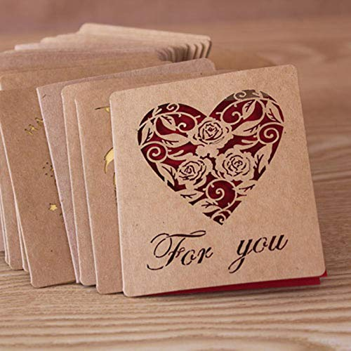 (Cards & Invitations - Good Folding Kraft Paper Greeting Card Wishes Happy Birthday Blessing Message Event Party - Well Romantic Birthday Goodbye Display Dogs Paper Quotes Thinking Home)