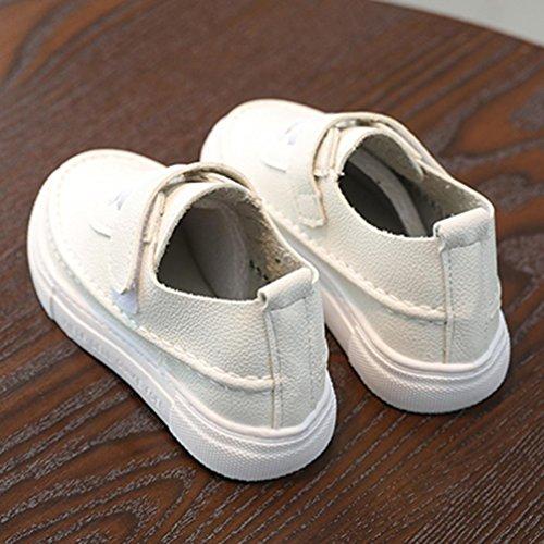 Jamicy® Kinderschuhe, Baby Jungen Mädchen Casual Leder Flache Schuhe Weiß