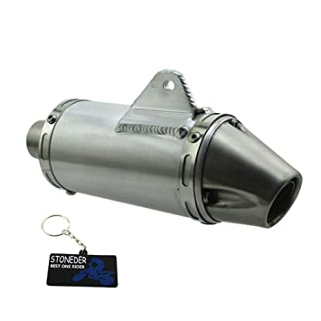 STONEDER 38/mm Auspuff Schalld/ämpfer T4/Stil 125/160/190/cc CRF50/KLX110/Pit Dirt Bike
