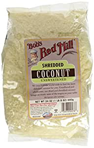 Bob's Red Mill Shredded Coconut, Medium Unsweetened , 24 Ounce