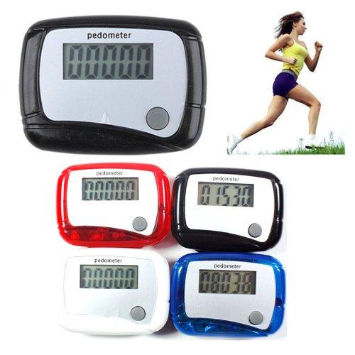 DDU(TM) 1 Pcs Red Clip Weight Calorie Loss Walk Running Mini LCD Screen Step Counter (Mini Pedometer)