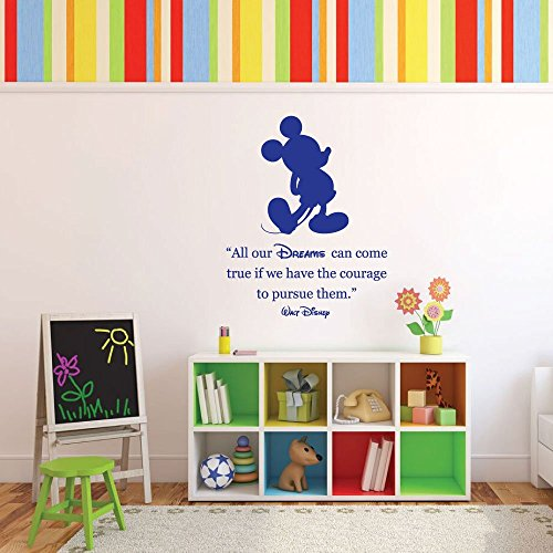 """Wall Decals For Decorating Kids Room Walt Disney """"All our dr"""