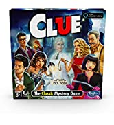 Hasbro Clue Game; Incudes The Ghost of Mrs. White; Compatible with Alexa (Amazon Exclusive); Myst...