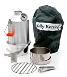 Kelly Kettle Medium Aluminum Scout Camp Stove Basic Kit. The Perfect Camp Stove for Cooking, Hiking, Camping, Kayaking, Fishing, and Hunting. Boil Water, Cook Fast, Survive.