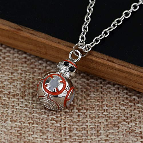 Mens necklace Star Wars Bb8 Robot Tautomini Mini Model Crystal Pent Sansi Fashion MenS Summer Saumym R
