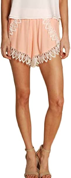 Womens Made in America Ruffle Shorts