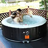 Goplus 6 Person Portable Inflatable Hot Tub for Outdoor (Small Image)