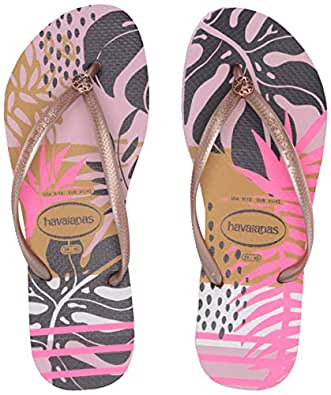 havaianas Women's Slim Royal Sandal, Aubergine Pink Size: 6