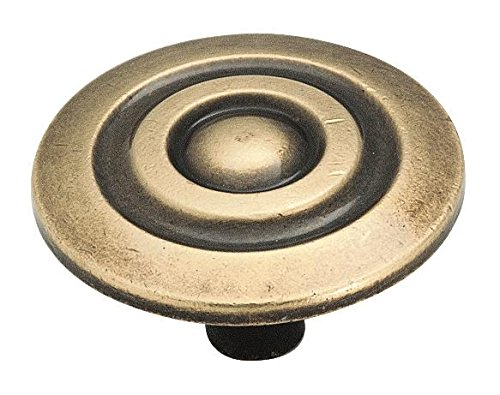 Amerock Corp BP594-AE Amerock Allison Bp594Ae Round Colonnade Cabinet Knob, 7/8 in Projection, 1-1/2 in Dia, Zinc Alloy