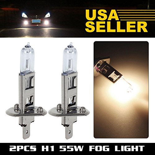 HaloPro High Performance 2pcs H1 12V 55W Headlight High Beam / Low Beam /Fog light Halogen Bulb 3000-4000K Night White 1000-1400LM For Jaguar /Mercedes-Benz /BMW (2001 Honda Prelude Foglights compare prices)