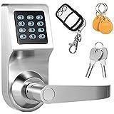 Decdeal 4-in-1 Tastiera a Chiave Elettronica Serratura Codificata con Password + Scheda RF + Telecomando + Tasto Meccanico Sicurezza Domestica
