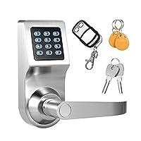 Decdeal 4en 1clavier sans clé électronique de porte à code Lock débloqué par Mot de passe + carte RF + Télécommande + touches Mécaniques Sécurité à domicile