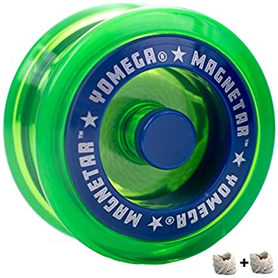 Yomega Magnetar Responsive High Performance Ball Bearing Yoyo for Kids, Designed for Beginners and Advanced String Trick and Looping Play. + Extra 2 Strings. + 3 Months Warranty (Green): Toys & Games