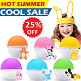 #7: Bath Bombs For Kids Surprise Toy Inside 6 Fun Colorful Fizzy Bath Bombs Great Home Kids Bath Bombs Set Gender Neutral Boys & Girls Best Birthday Holiday Gifting Idea for Kids