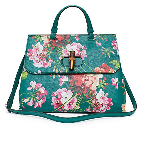 2cdd1cbe9 GUCCI-Bamboo-Shopper-Blooms-Leather-Tote-Bag-Red