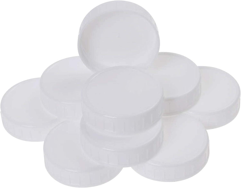 ZIIVARD 10 Pieces Mason Bottle Lids Regular Mouth Cover Food Grade Plastic Reusable Leak Proof Lids for Ball Jar, Canning Jar,70mm/2.75inch