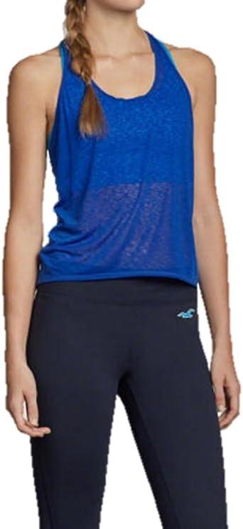 Hollister - Camisa Deportiva - para Mujer Azul Azul Medium: Amazon.es: Ropa y accesorios