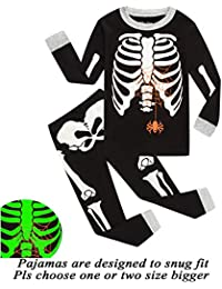Little Boys Pajamas Halloween Pjs 100% Cotton Long Sleeve Sleepwear Toddler Kids Clothes