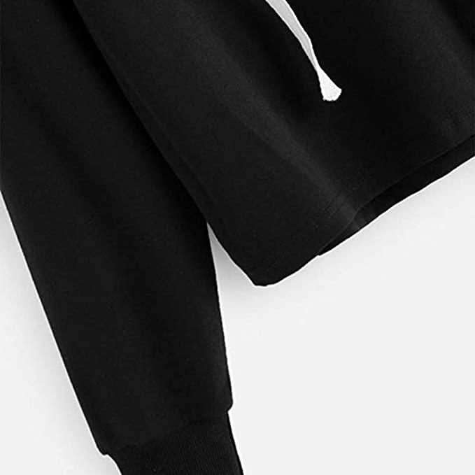 Chartsea Womens Letter Print Long Sleeve Crop Top Sweatshirt Hoodies at Amazon Womens Clothing store: