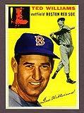 Ted Williams 1954 Topps #250 Baseball Reprint with Original Back (Boston)