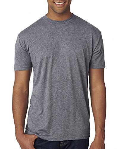 Next Level 6010 Men's Tri-Blend Crew Tee - Medium - Premium Heather - Tri T-shirt Blend