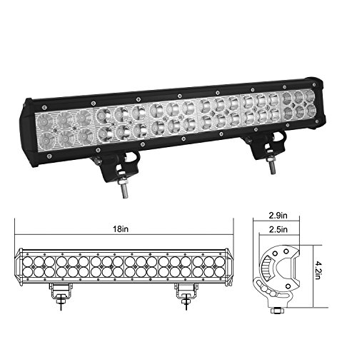 Durable modeling auxtings 18 inch 108w led light bar spot flood durable modeling auxtings 18 inch 108w led light bar spot flood combo beam offroad led aloadofball Gallery