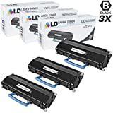 LD © Compatible Lexmark X203A11G Set of 3 Black Laser Toner Cartridges for X203N, and X204N Printers