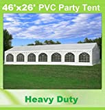 Cheap 46'x26′ PVC Party Tent – Heavy Duty Wedding Canopy Gazebo Carport – with Storage Bags – By DELTA Canopies