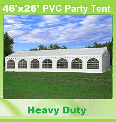 46'x26' PVC Party Tent - Heavy Duty Wedding Canopy Gazebo Carport - with Storage Bags - By DELTA Canopies