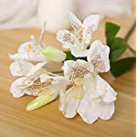 Skyseen-3PCS-Artificial-Flowers-Azalea-Blossoms-Fake-Rhododendron-for-Home-DecorWhite