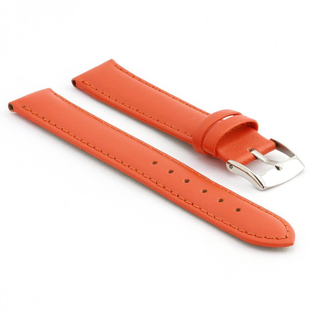 StrapsCo 本革 腕時計ベルト マット仕上げ 40mm オレンジ B01INPCZZQ 40mm オレンジ オレンジ 40mm