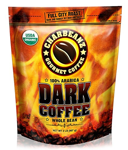 2LB Cafe Don Pablo CharBeanz Dark Coffee – USDA Organic Certified – Whole Bean Arabica Coffee – Full City Roast, 2 Pound