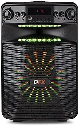 QFX PBX-1210 Good App Managed Get together Sound System with Gentle Results