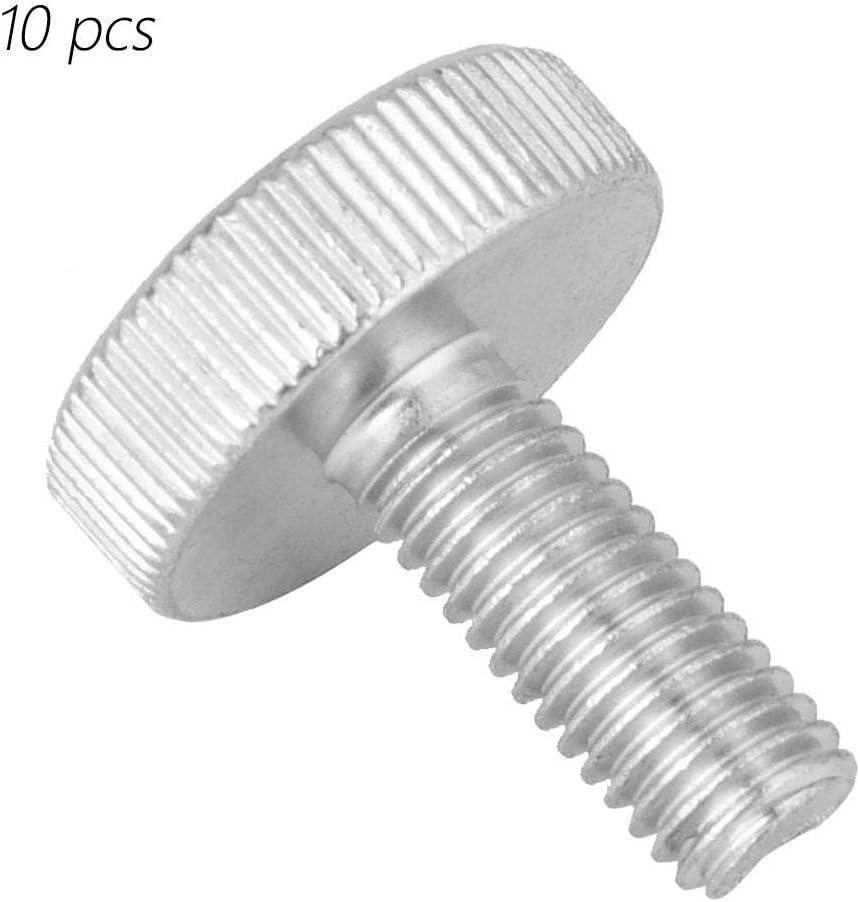 M6*30(2pcs) Tornillo de cabeza de moleteado plano de acero al carbono cincado M6 Tornillos de cabeza moleteados Accesorio Tornillo de cabeza moleteada