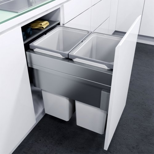Vauth Sagel OKO XXLiner Double Waste Bin Pullout by Vauth-Sagel