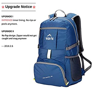 Venture Pal Lightweight Packable Durable Travel Hiking Backpack Daypack (Navy Blue)