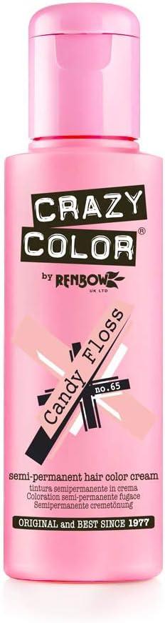 Crazy Color Candy Floss Nº 65 Crema Colorante del Cabello Semi-permanente
