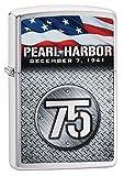 Zippo Pearl Harbor 75th Anniversary Brushed Chrome Pocket Lighter