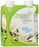 Orgain Organic Nutritional Shake Sweet Vanilla Bean -- 4 Shakes (11 fl. oz each)