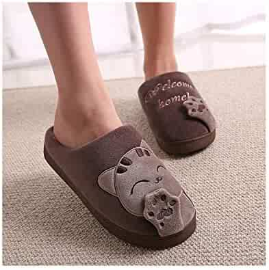 c118d7e14c2b4 Winter Women Slippers Plush Home Cute Slippers Warm Indoor Shoes House  Lovely Couple Woman Man Footwear